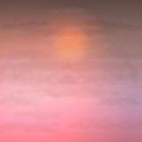 Sky Vector Clouds Sunset Background Royalty Free Stock Images