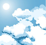 Sky. Vector illustration of clouds in the sky Royalty Free Stock Images