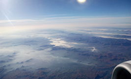 Sky view. From aeroplane window Royalty Free Stock Photography