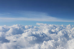 Sky. The view from the airplane Royalty Free Stock Photography