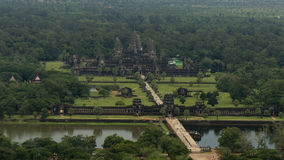 Sky View of Angkor Wat in Cambodia Stock Photos
