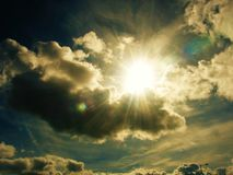 Sky. View of the sky and the beautiful clouds and sunshine Royalty Free Stock Photography