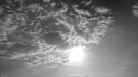 SKY. View from the sky in black and white Royalty Free Stock Photo