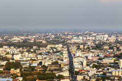 Sky view a city of Khonkaen Thailand Royalty Free Stock Photos