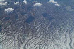 Sky view of cloudscape and earth Royalty Free Stock Photography