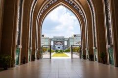 Sky view from hallway of a Tengku Mizan mosque Stock Image