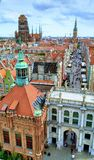 Panorama of Gdansk old town, Poland royalty free stock image