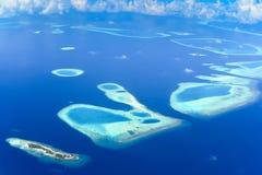 Sky view of Rafa Atoll Stock Images