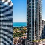 Sky view to Lake Michigan Stock Photography