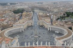 Panoramic view of Vatican city royalty free stock image