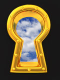 Sky visible through Keyhole Royalty Free Stock Photo