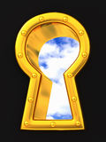 Sky visible through Keyhole Stock Photography