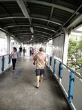 The sky walk in bangkok Royalty Free Stock Image