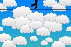 Sky walking vector illustration
