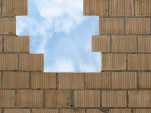 Sky and wall Stock Photo