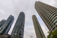Residential luxury towers, Kuala Lumpur. Royalty Free Stock Photo