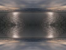 Sky and water. Double-sided mirror image background stock illustration