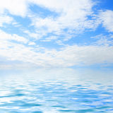 Sky and water. Blue sky and blue water Stock Image