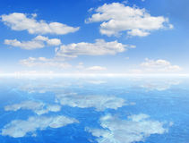 Sky and water abstract background Stock Image