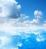 Sky and water background Royalty Free Stock Photos