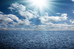 Sky and water Stock Image