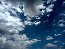 Sky with water clouds and sunlight. royalty free stock photo