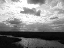 Sky with water. Grasslands that are the sky and the water Stock Photography