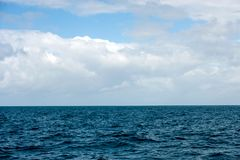 Sky and water of indian ocean royalty free stock image