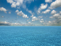 Sky and water of ocean Royalty Free Stock Image