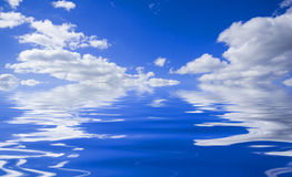 Sky with water reflection stock photo