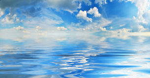 Sky and water Royalty Free Stock Photo
