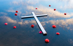 Sky Waters Cross Royalty Free Stock Photography