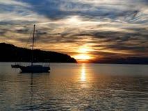 Sky, Waterway, Horizon, Calm stock image