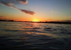 Sky watter sunset Stock Photos
