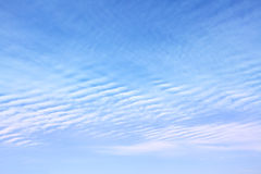 Sky with wavy clouds Stock Image