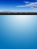 Sky web template stock image
