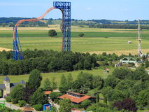 Sky wheel roller coaster countryside Stock Photography