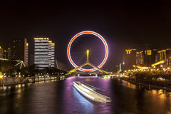 Sky Wheel in Tianjin Royalty Free Stock Images