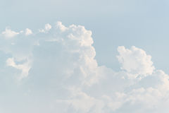 Sky with white cloud. Background Royalty Free Stock Photography