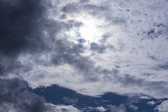 Sky white cloud background Stock Image