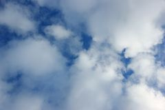 Sky with white clouds Royalty Free Stock Images