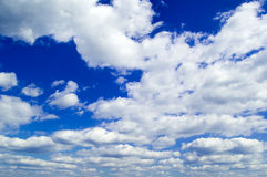 The sky and white clouds. The blue sky and white clouds Stock Photo