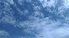 Sky. White clouds and blue sky Royalty Free Stock Photo