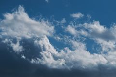 Sky with white clouds. Stock Photography