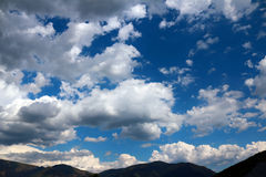 Sky with white clouds Royalty Free Stock Photography