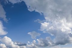 Sky with white clouds stock image