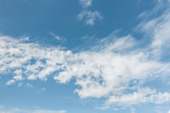 Sky. White clouds with wind in blue light sky Royalty Free Stock Image