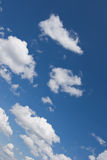Sky with white couds Stock Images