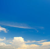 sky and white cumulus clouds Stock Photography