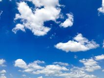 Sky. White fluffy clouds with blue sky Stock Image
